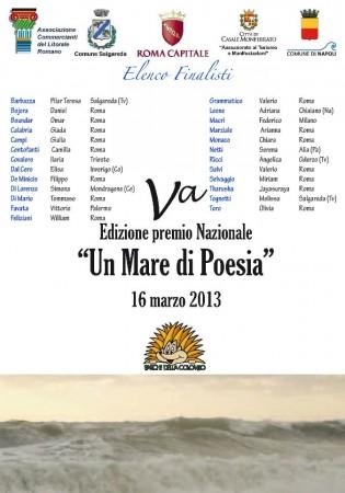 Premio nazionale di poesia trasacco 2013